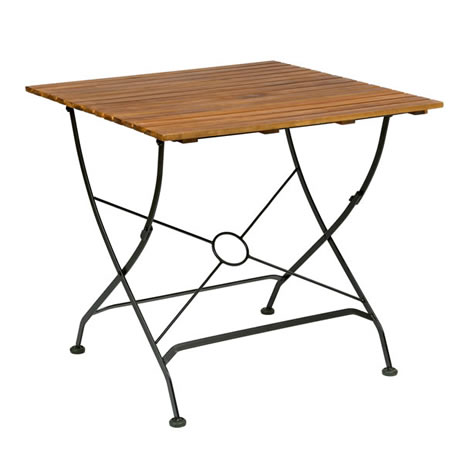 Elizabeth Accacia Folding Courtyard Outdoor Garden Square Table
