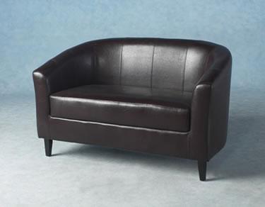Brown Tempus 2 Seater Tub Chair