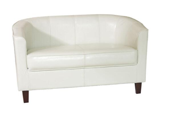 Tempus Cream 2 Seater Tub Sofa Seat Chair Commercial Quality