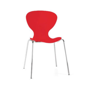 Ziponi Red Stacking Plastic Side Kitchen Dining Chairs Price Is For 4