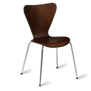 Tori Wood And Chrome Chair - Stackable
