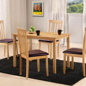 Tali Oak Rectangle Table With Chairs