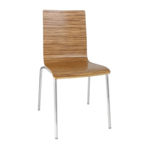 Trivo Quality Stacking Square Back Kitchen Dining Sidechair Zebrano Colour Price Is For 4