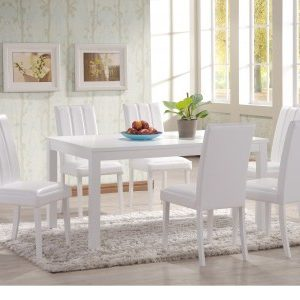 Tari White Dining Table And 6 Chairs
