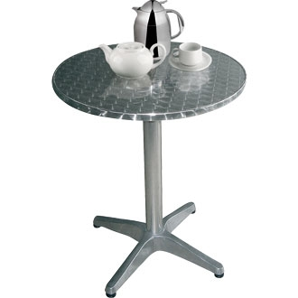Boley Round Outdoor Table Stainless Steel Aluminium