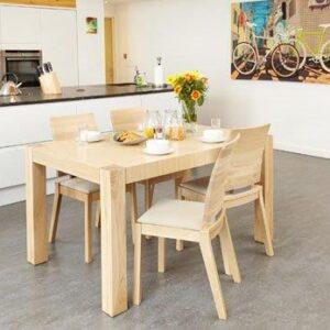 Haponi Light Oak Finish Quality Kitchen Dining Extended Table