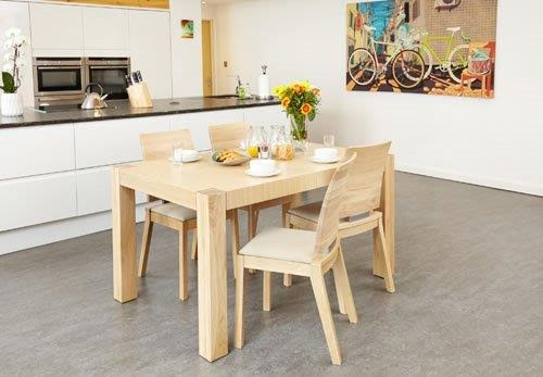 Haponi Light Oak Finish Quality Kitchen Dining Extended Table