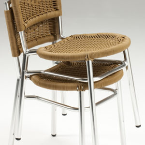 Vero Wicker Stackable Chair - Indoors/Outdoor