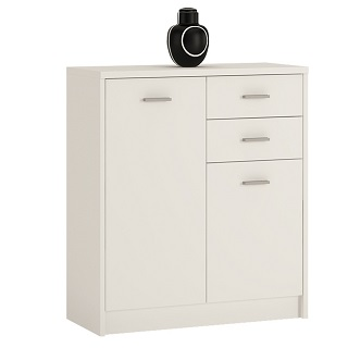 Norse 2 Door 2 Drawer Cupboard In Pearl White Or Sonoma Oak
