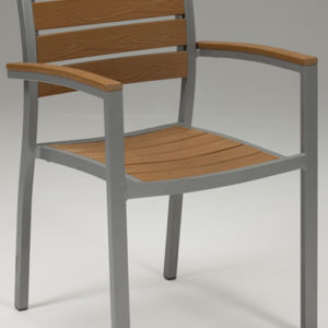Villi Stackable Tekwood Chair With Arms - Indoor/Outdoor