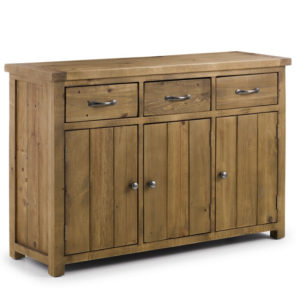 Asoney Sideboard Rough Sawn Solid Pine Fully Assembled