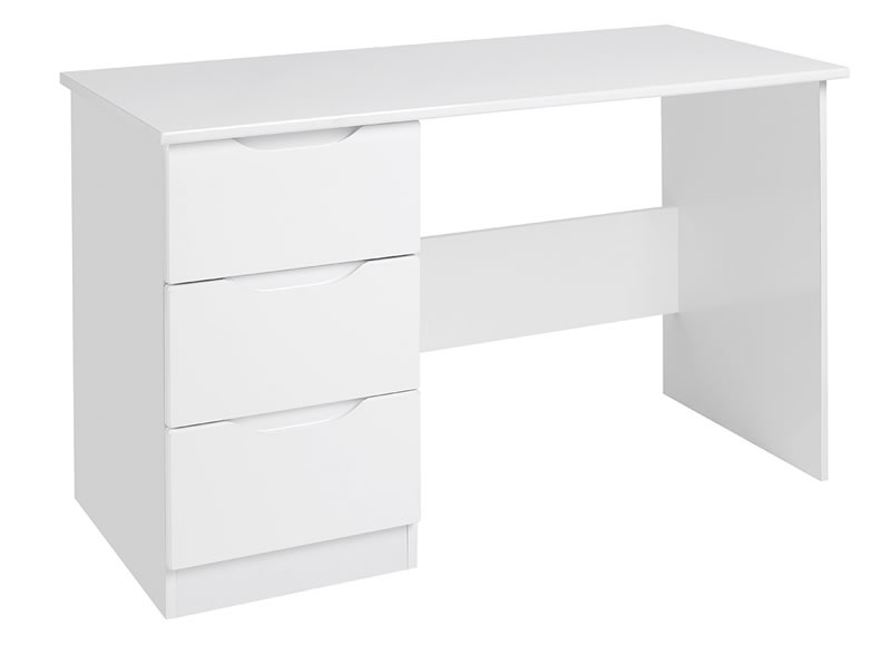 Viz Alp White Gloss Dressing Table Uk Made Quality Fully Pre Assembled