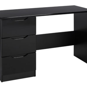 Viz Ori Black Gloss Dressing Table Uk Made Quality Fully Pre Assembled