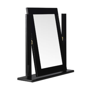 Viz Ori Black Gloss Dressing Table Mirror Uk Made Quality Fully Pre Assembled