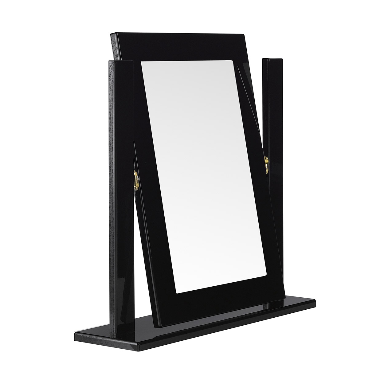Viz Ori Black Gloss Dressing Table Mirror Uk Made Quality Fully Pre Assembled