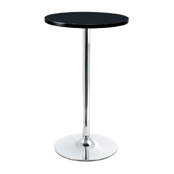 Westton Black Tall Kitchen Bar Poseur Table