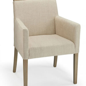 Modosi Fabric And Wood Dining Chair Cream