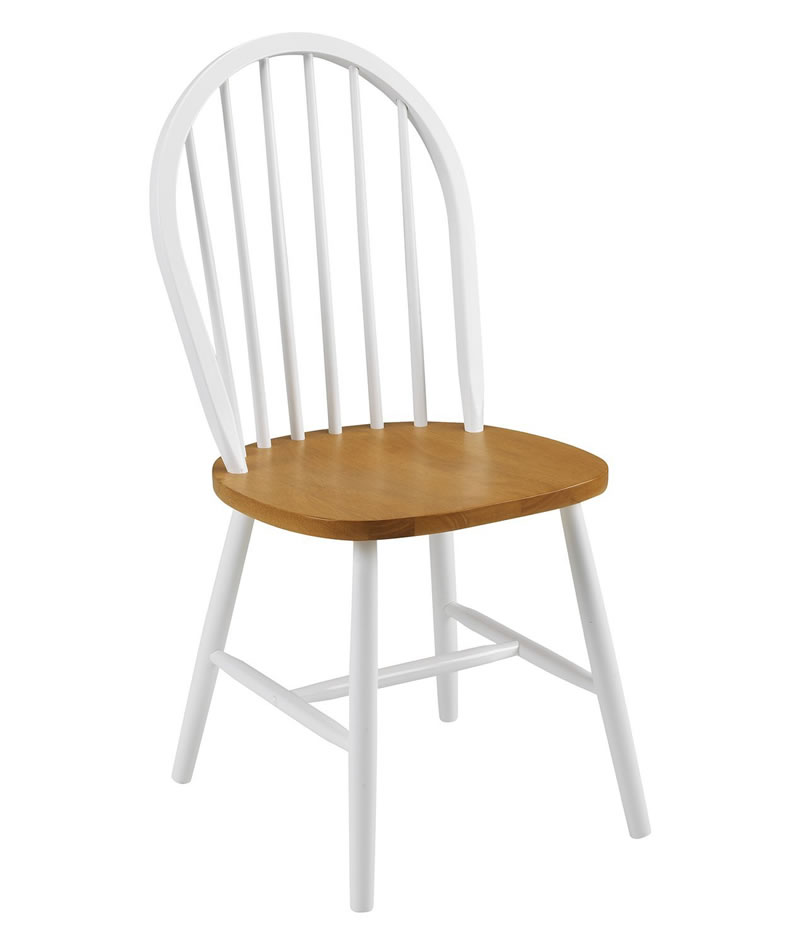 Wanda Classic Farmhouse Style Wood Kitchen Dining Chair Pre Assembled Option White And Oak