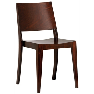 Wasono Kitchen Dining Wooden Frame Side Chair Walnut Colour Frame Fully Assembled