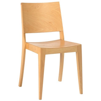 Wasono Kitchen Dining Wooden Frame Side Chair Beech Natural Colour Frame Fully Assembled
