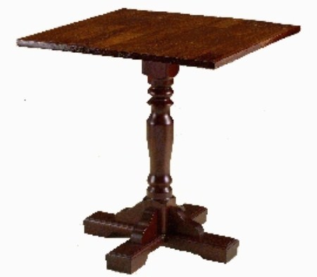 Victoria Traditional Pub Wood Dining Table - Square Top