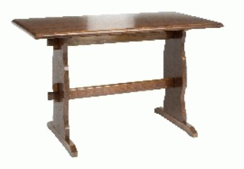 Yankee Large Wood Dining Table Commercial Quality Traditional Style
