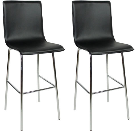 Astounding Pair Gilling Chrome And Padded Kitchen Breakfast Bar Stools Ocoug Best Dining Table And Chair Ideas Images Ocougorg