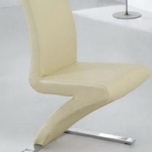 Zorro Z Shaped Dining Chair Cream Padded Seat