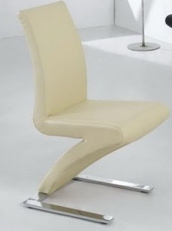Zorro Z Shaped Dining Chair Cream Padded Seat