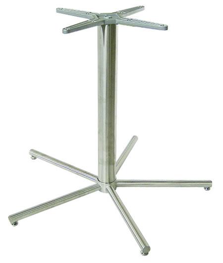 Zane Brushed Steel Dining Table Base