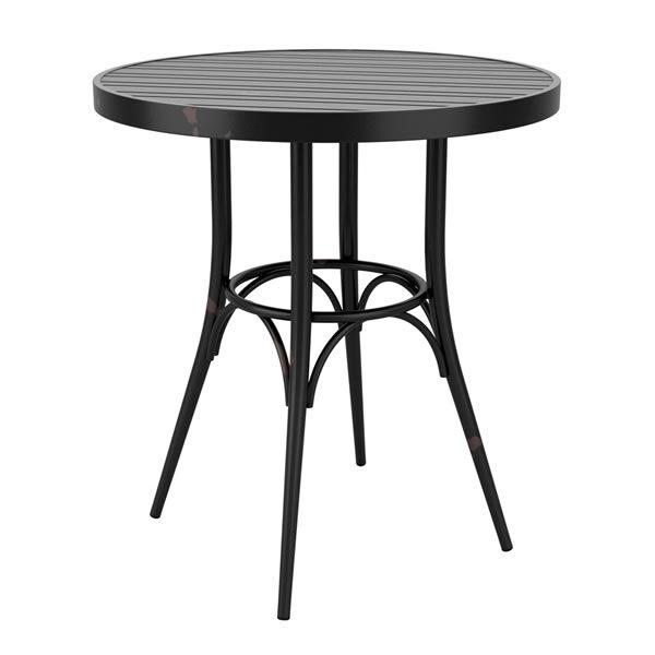 Zipon Durable Retro Style Kitchen Dining Table Aluminium Vintage Contract Use