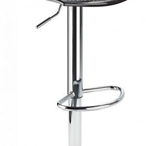 Blazar Black Modern Kitchen Bar Stool Height Adjustable