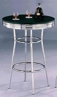Michigan Retro Fixed Height Tall Kitchen Bar Table