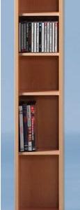 Opny Beech Cd / Dvd Storage Unit Tower Rack