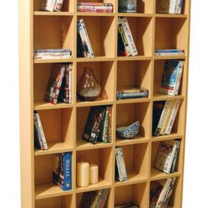 Pagat Pigeon Holw - Cd Dvd Blu-Ray Media Storage Shelves - Beech