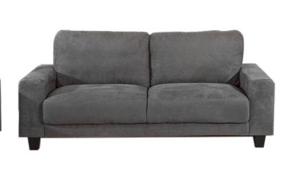 Andrew Quality 2 Seater Microfibre Sofa In Charcoal Quick Delivery