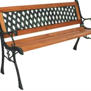 Talileo Garden Bench 3 Seater - Wood And Cast Iron
