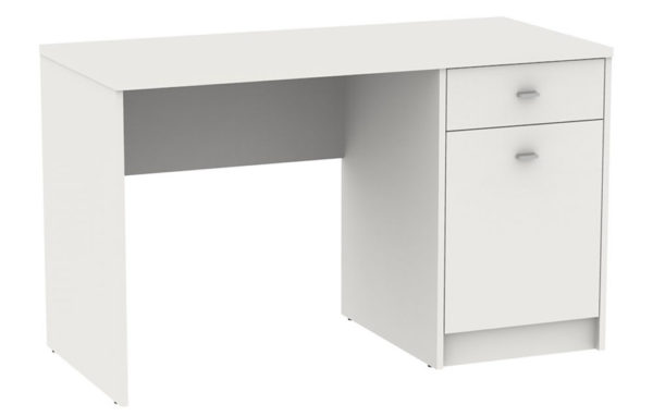 Fosy 1 Door 1 Drawer Office Or Home Desk Pearl White