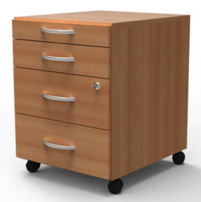 Quint Pedestal Filing Cabinet 4 Drawer