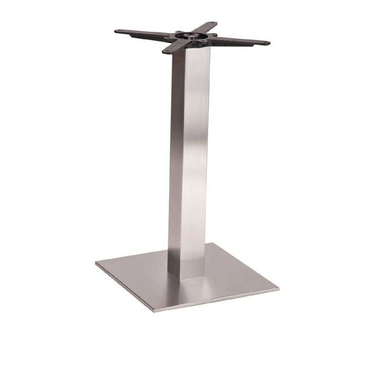 Daniella Brushed Steel Square Table Base