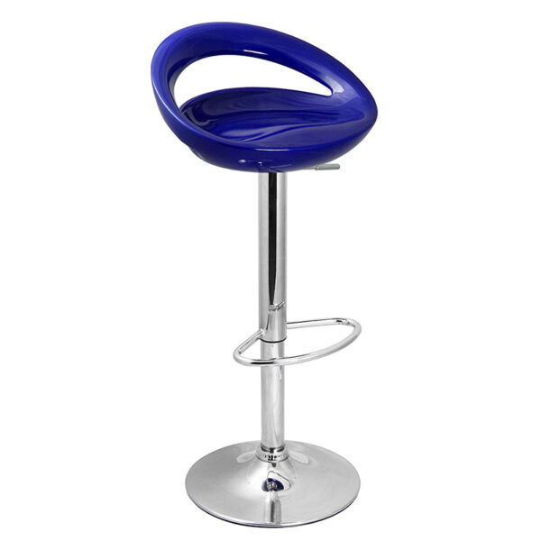 Half Moon Retro Adjustable Breakfast Bar Stool - Blue
