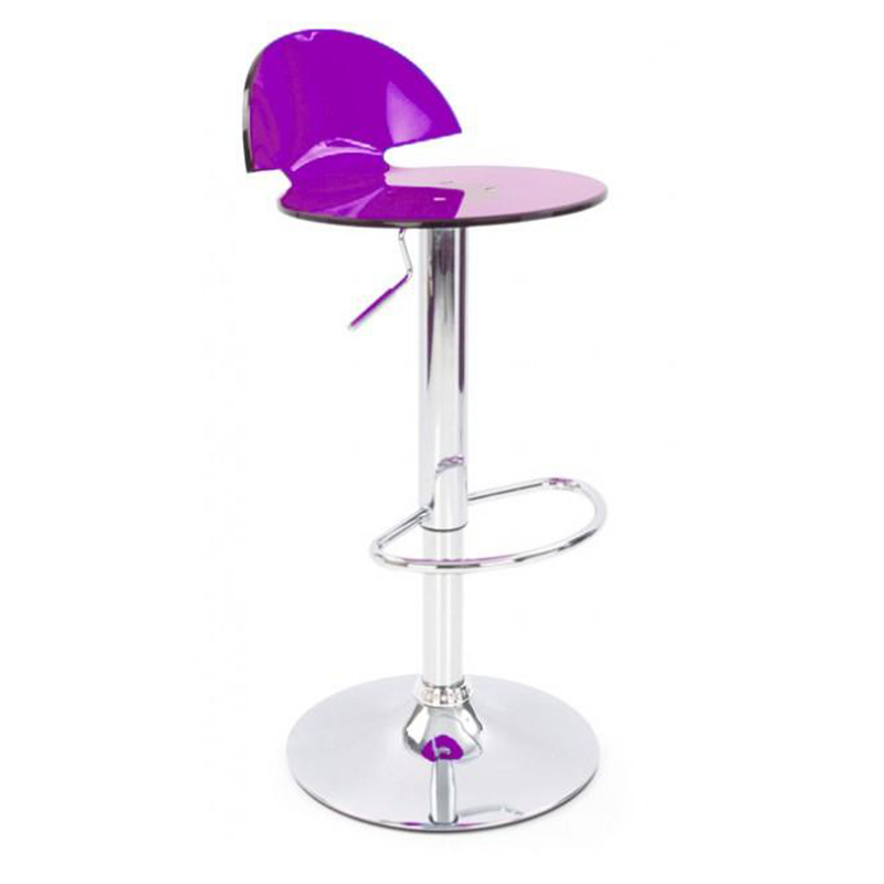 Jamie Translucent Acrylic Kitchen Bar Stool - Lilac