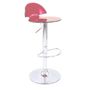 Jamie Translucent Acrylic Kitchen Bar Stool - Red