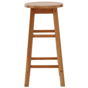 Rubberwood Fixed Height Wooden Bar Stool