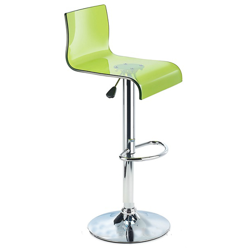Snazzy Adjustable Acrylic Kitchen Bar Stool Green