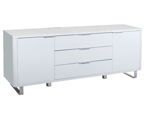 Maudin High Gloss Sideboard White