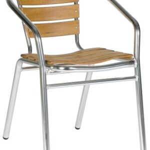 Acfa Aluminium And Teak Chair - Outdoor