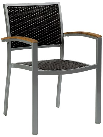 Acfa Aluminium Armchair - Jave Weave