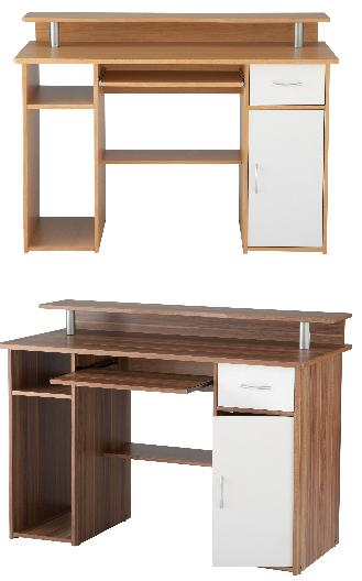 Boston Home Computer Desk Workcentre - Beech Or Walnut