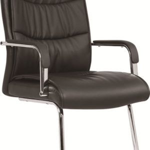Sanskrit Office Chair Cantilever Black Faux Leather